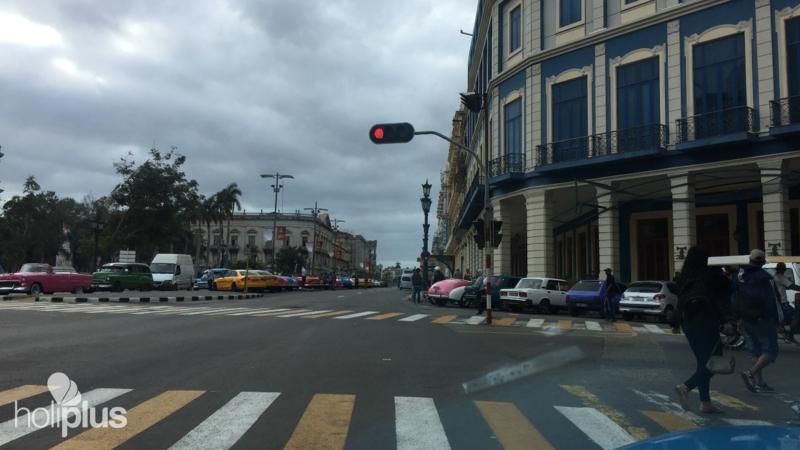 "9c40cd9e6fe2 The José Martí central park panoramic view. Havana. ""Ride to Havana in Old"