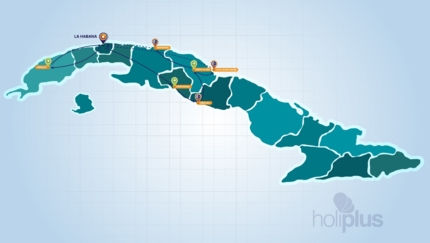 CUBA CULTURE AND TRADITIONS Group Tour Map